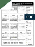 2019-2020 csisd calendar