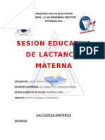 Sesion Educativa de Lactancia Materna