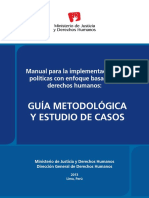 Minjus - Manual Para La Implementacion de Politicas Publicas Con Enfoque Basado en Derechos Humanos