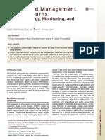 Acute Fluid Management of Large Burns Pathophysiology, Monitoring, And Resuscitation