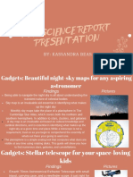 pop science report presentation
