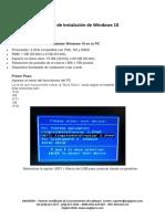Guía de Instalación de Windows 10