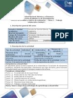 Guía de Actividades y Rúbrica de Evaluación - Tarea 1 - Trabajo Colaborativo Unidad 1