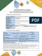 Guía de actividades y rúbrica de evaluación - Fase final - Crear proyecto de información en EverNote.pdf