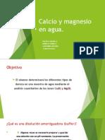 CALCIO Y MAGNESIO EN AGUA (TRATAMIENTO DE AGUAS)