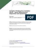 Edgar Morin - Complex Thinking for a Complex World.pdf