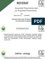 Hospital Acquired Pneumonia Dan Ventilator Acquired Pneumonia
