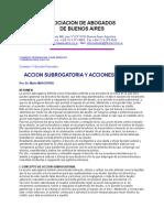 Acción subrrogatoria y acciones directas-Mario Masciotra.doc