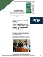 Concreta Gobierno de Laura Fernández ma...ica de Puerto Morelos