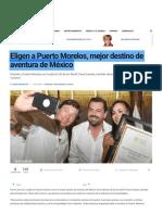Eligen a Puerto Morelos, mejor destino de aventura de México
