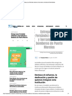Entrega Laura Fernández uniformes y herramientas a bomberos de Puerto Morelos