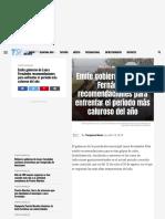 Emite gobierno de Laura Fernández recom...rentar el periodo más caluroso del año