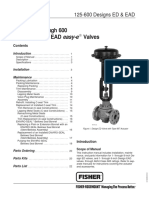 ED series Control valve Fisher