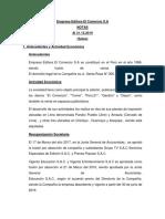 Empresa Editora El Comercio S ACTUAL