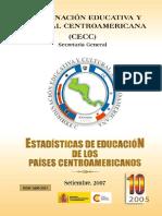 Estadisticas de Los Paises Centroamericanos