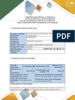 Guía Fase 2 Desarrollo Del Pensamiento y El Lenguaje