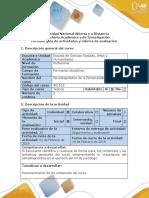 Guía de actividades  - Momento 1 - Reconocimiento contenidos del curso.