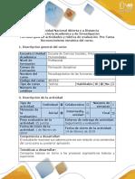 Guía de actividades y rubrica de evaluación – Pre-Tarea- Renoconocimientos tematicas del curso
