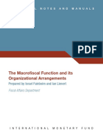 The Macrofiscal Function and its organizational arrangements