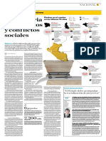 [El Comercio] Una historia Estado actual Inversión de proyectos y conflictos sociales