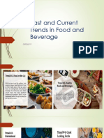 past and current trends in food and beverage