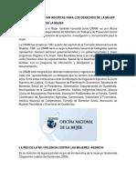 OFICINAS DE LA MUJER EN GUATEMALA