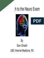 2 Approach to the Neuro Exam Feb 2011