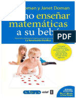 Doman. Cómo Enseñar Matemáticas a Su Bebé