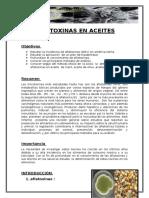 Aflatoxinas en Aceites
