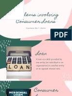 Problems Involving Consumer Loans-2