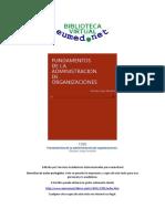 Libro Fundamentos de La Administracion de Organizaciones PDF