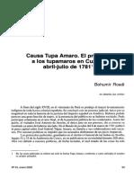 Causa Tupa Amaro. El proceso a los tupamaros en Cuzco, abril-julio de 1781 1