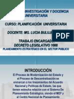 Planeamiento Sector Publico