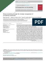 Money Laundering Through the Strategic Management Of