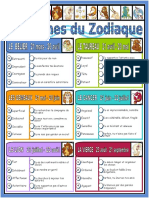 Les Signes Du Zodiaque Comprehension Ecrite Texte Questions Comprehension 29704