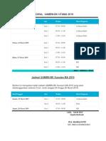 Jadwal Uambn Bk Utama 2019