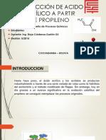 Producción de Acido Acrílico a Partir de Propileno