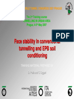 Face Stability in Conventional Tunnelling and EPB Soil Conditioning
