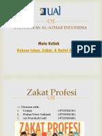 Zakat Profesi - Hukum Islam, Zakat, & Baitul Mal