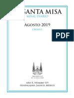Misal mensual agosto 2019