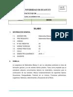 MODELO SILABO MATEMATICA BASICA