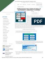 Sistema en Excel Para Controlar Vehículos (Mantenimiento, Combustible y Choferes)