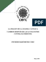 CERC - INFORME - LA IMAGEN DE LA IGLESIA CATÓLICA - CAMBIOS DESPUÉS DE LAS ACUSACIONESCONTRA SACERDOTES - Mayo 2010 - Chile
