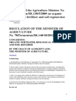 Regulation of the Agriculture Minister No