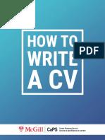 Guide Cv McGill
