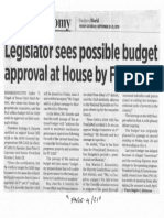 Business World, Sept. 20, 2019, Legislator sees possible budget approval at House by Friday.pdf