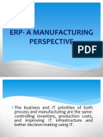 Chapter 4 - ERP a Manufacturing Perspective