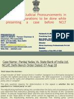 PPT-Judicial Pronouncement IBC CASE LAWS