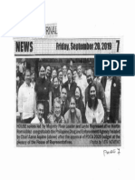 Peoples Journal, Sept. 20, 2019, House solons led by Majority Floor Leader and Leyte Rep. Martin Romualdez congratulate Phil. Drug and Enforcement Agency.pdf
