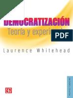 Democratización, teoría y experiencia- Laurence Whitehead